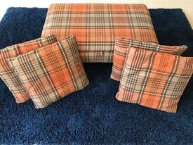 NEXT Harrogate Storage Footstool and 4 Matching Cushions