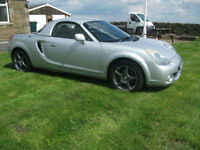 TOYOTA MR2 ROADSTER 1.8 LOW MILEAGE WITH LEATHER AND A/C. hardtop available