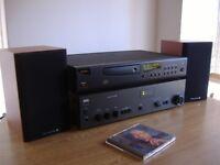 nad 3130 amplifier,arcam alpha 8 cd player inc remote,wharfdale diamond 9.0 speakers.quality hi fi
