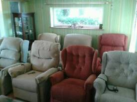 ELECTRIC RISE AND RECLINING CHAIRS SHERBOURNE AND CELEBRITY ETC PRICES FROM £195