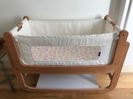 Snuz pod natural bedside crib