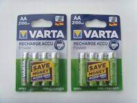 2 packs VARTA AA Rechargeable Battery - Free Delivery