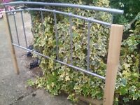 FREE standard Double bed frame, metal/wood