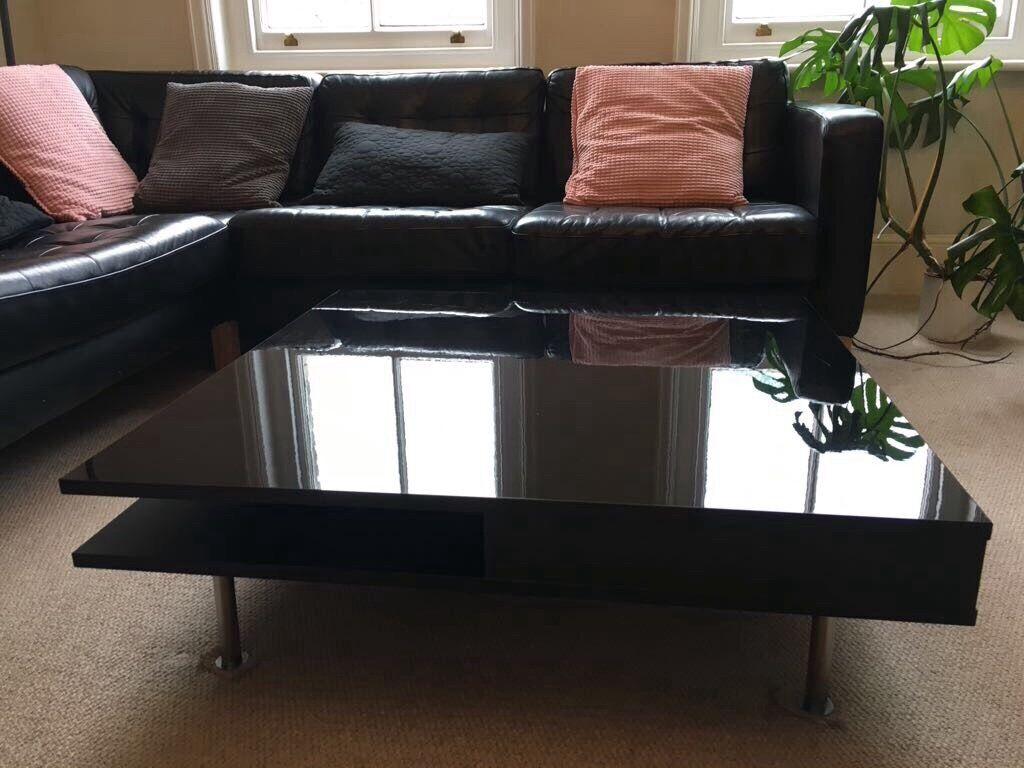 Tofteryd Coffee Table For Sale High Gloss Black In Kilburn  # Tofteryd Meuble Tv