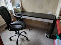 [FREE] Black ikea desk and chair