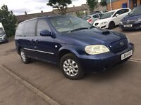 KIA SEDONA 2.9 DIESEL/ AUTOMATIC TRANSMISSION/ 7 SEATER -- ONLY ONE MONTH MOT