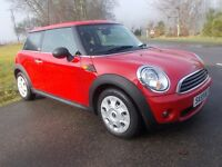 2009 59 MINI 1.4 FIRST BRIGHT RED WITH TWO TONE BLACK INTERIOR