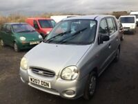 HYUNDAI ATOZ IN NICE CLEAN CONDITION LONG MOT IDEAL CHEAP RUNABOUT IN SILVER GOOD DRIVER ECONOMICAL
