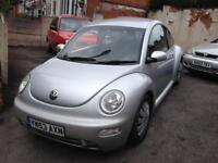 Bargain 2004 Volkswagen Beetle 1.6 in stunning star silver, low miles for age drives perfect, s/hist