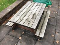 Kids solid wooden picnic table