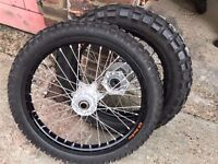 FOR SALE SET OF RIMS AND TYRES BRAND NEW FOR MOTOR BIKE