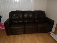 5 peice leather sofa set