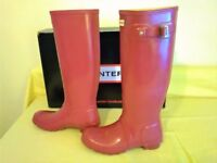 HUNTER RED Welly Boots Size UK 6 Euro 39