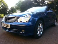 ★ 1 LADY OWNER & LOW MILEAGE! ★ YEARS MOT ★ 2007 MERCEDES C180 KOMP. CLASSIC SE AUTO, 4dr ★ FULL S H