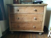 Victorian style pine chest of drawers