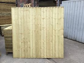 🌳PRESSURE TREATED WOODEN FENCE PANELS * STRAIGHT TOP *