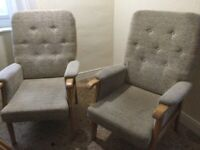 Two matching fireside chairs