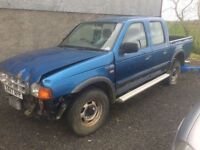 2000 Mazda B2500 -Ford Ranger crewcab for parts ++++ all parts to repair