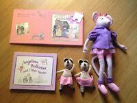 Angelina Ballerina doll, story book & jigsaw book