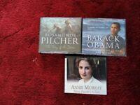 AUDIO BOOKS BY ROSAMUNDE PILCHER, BARACK O' BAMA & ANNA MURRAY