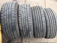 185 55 15 Part worn tyres on Vauxhall corsa rims