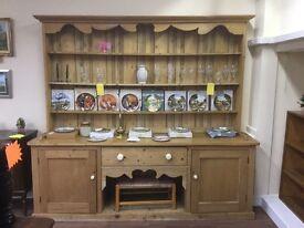 Victorian farmhouse pine kennel dresser