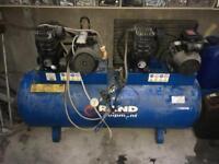 Rand tandem pump compressor
