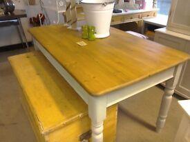 VINTAGE Farmhouse table, renovated