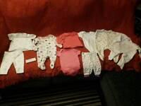 Baby clothes set leggings vest top babygrow
