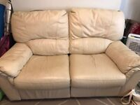 Two leather seater reclining and three leather seater reclining