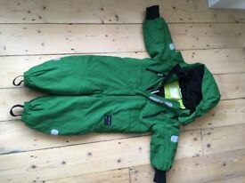 Polarn o Pyret green 18 month to 2 years padded snow suit