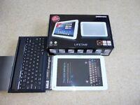 MEDION LIFETAB E10317 16GB, Wi-Fi, 10.1in - White & BlueTooth Keyboard/Stand