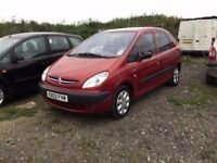 CITREON XSARA PICASSO LOW MILEAGE FULL SERVICE HISTORY LONG MOT 1600 cc engine drives very nice px
