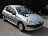 peugeot 206 lx 1.4 air con new cambelt low miles