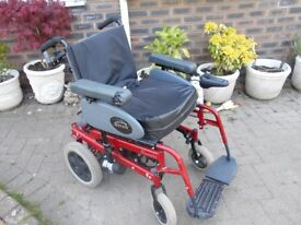 Large power wheelchair dual control
