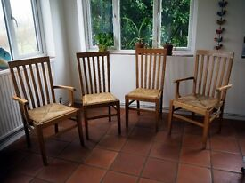 Wooden Slat Back Chairs (x4)
