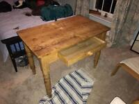 Vintage Pine Kitchen Table shabby chic
