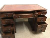 Reproduction Mahogany Leather Top Desk