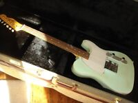 Telecaster electric guitar light relic heavy over 9lb Klusons decaled Fender mad sustain