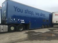 Selection of 45 ft trailers for sale box van / tri deck double deck box van curtain siders