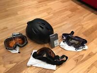 Ski/snowboard helmet and 3x ski goggles