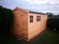 13FTx8FT HEAVY DUTY APEX GARDEN STORAGE TIMBER T&G SHED