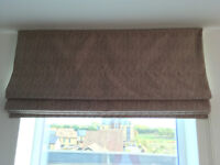 Roman Blind in Beige with Red Fleck made by Hilarys
