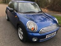 MINI 0NE 1.4 58 REG IN BLUE WITH SERVICE HISTORY,MOT JUNE 2019, NEW CHAIN AND SERVICED THIS MONTH