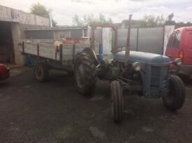 Grey Ferguson and trailer