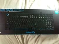 Logitech G810 Orion Spectrum customisable keyboard