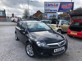 09 VAUXHALL ASTRA SXI 1.4 PETROL TWINPORT IN BLACK *PX WELCOME* MOT TILL MARCH 2019 £1995 O/N/O
