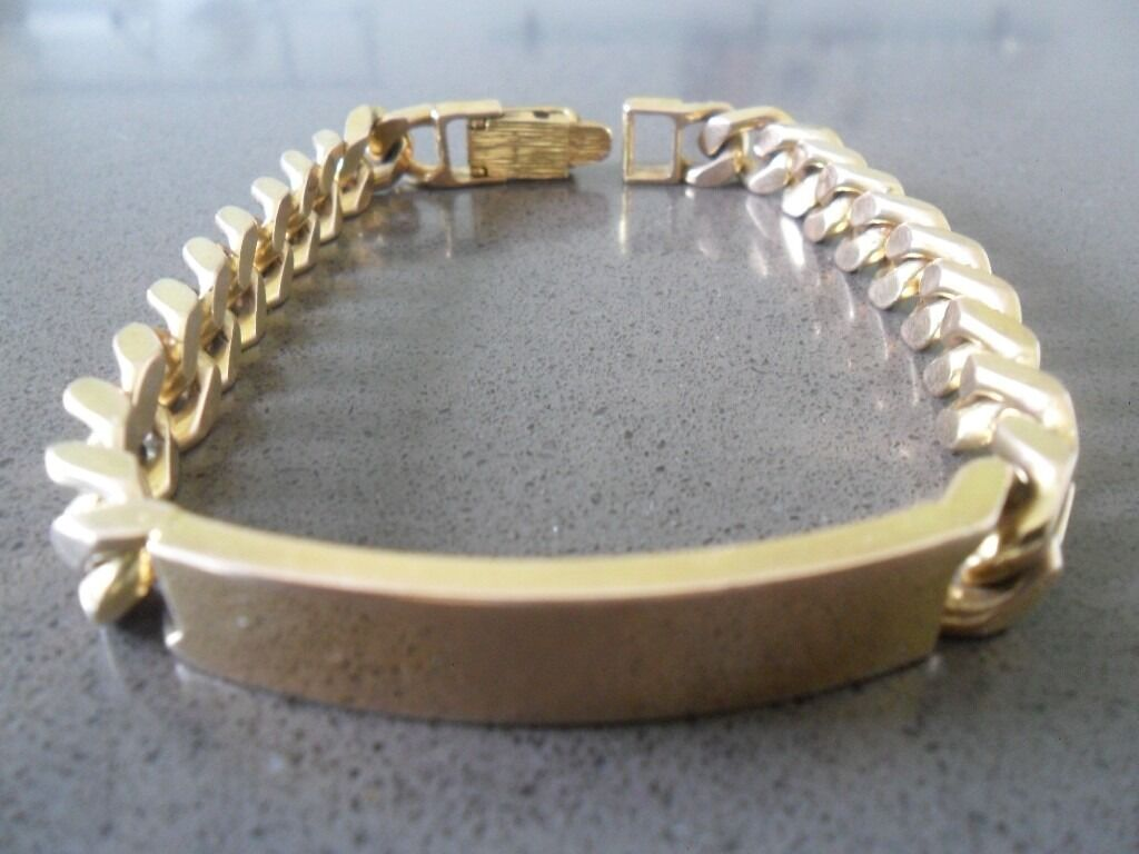 9ct Gold Mens Id Bracelet 57 4 Grams In Harlow Essex