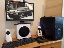 GAMING PC i5 gtx 960 4gb 8gb ram+lcd monitor+keyb+mouse