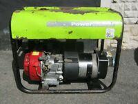 Honda Petrol Generator 110v and 240v